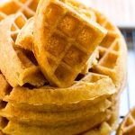 Pumpkin Maple Yeast Belgian Waffles